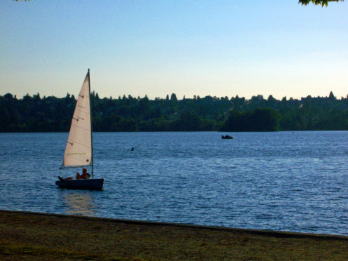 Sailboat on Green Lake