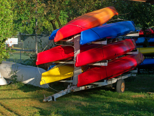 Canoes for rent at Green Lake