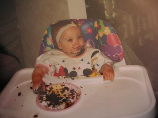 Her 1st birthday part