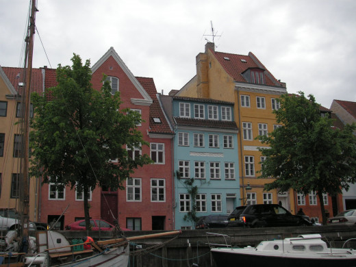 Riverside houses in Christianshavn
