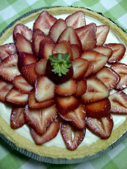 No-bake, Low-fat Strawberry Cheesecake