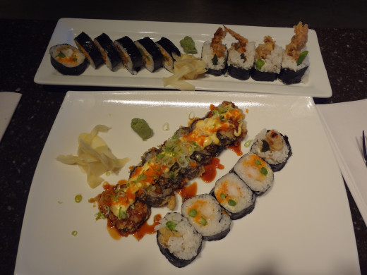 "Sushi prepared at ""Oishi"" in Chesterfield, Missouri."
