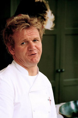 Gordon Ramsay, Chef and host of television series Hells Kitchen.