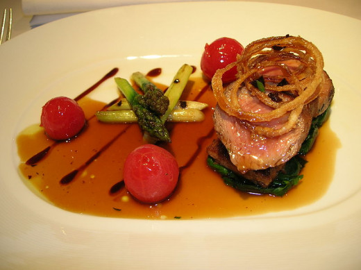Lamb dish from Gordon Ramsay's restaurant in Cornwell.