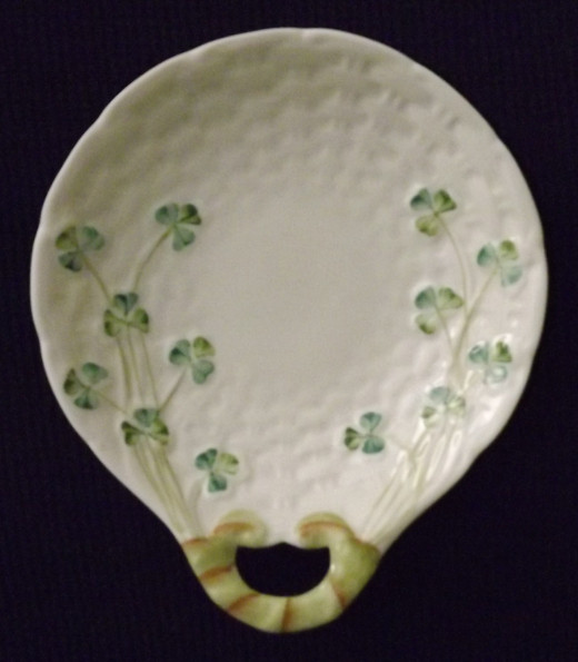 Belleek Shamrock Butter Plate