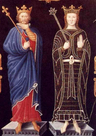 Chilperic I & Fredegunde By Medieval [Public domain], via Wikimedia Commons