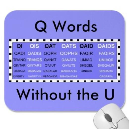 Q words in Scrabble