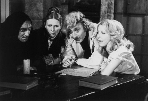 Marty Feldman, Cloris Leachman, Gene Wilder and Teri Garr