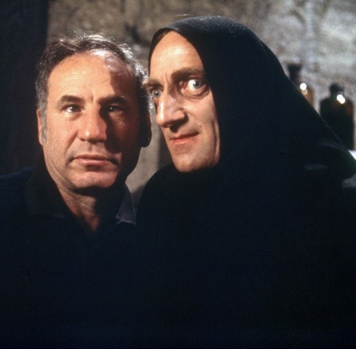 Mel Brooks with Marty Feldman
