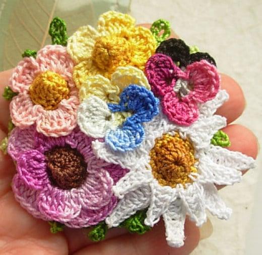 Crochet Flower Bouquet Patterns : Make your own Crochet Flower Bouquet