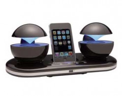 Review of Speakal iCrystal Stereo Docking Station with Two Speakers for iPod
