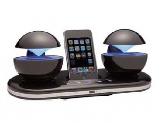 Speakal iCrystal Stereo Docking Station with Two Speakers for iPod