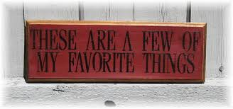 List Your Favorite Things