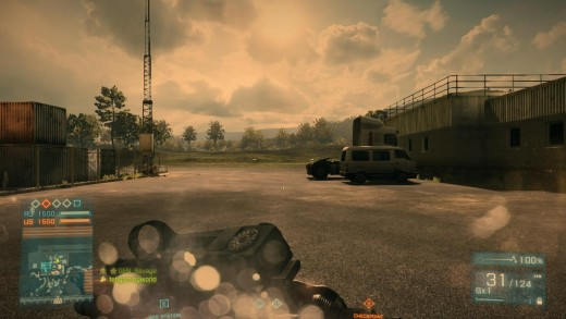 A screenshot taken from a Battlefield 3 multiplayer game.