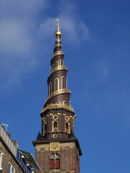 Climb to the top of this 300 foot high steeple for an excellent view of Copenhagen