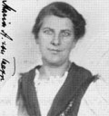 This is a photo of Maria von Trapp, Georg's second wife (who Julie Andrews portrayed in The Sound Of Music) from her US naturalization application.