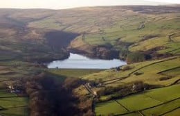 Digley Reservoir with its dam and car park - use this as your point of embarkation on a walk of discovery