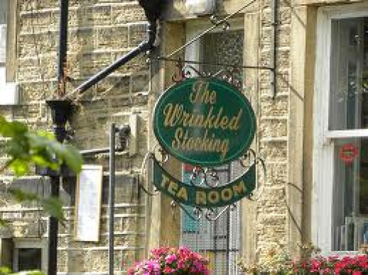 The Wrinkled Stocking Tearoom in Holmfirth, formerly 'home of Nora and her long-suffering,  husband 'Wally' Batty with his pigeons - spent more time with them than with her (she scared him)