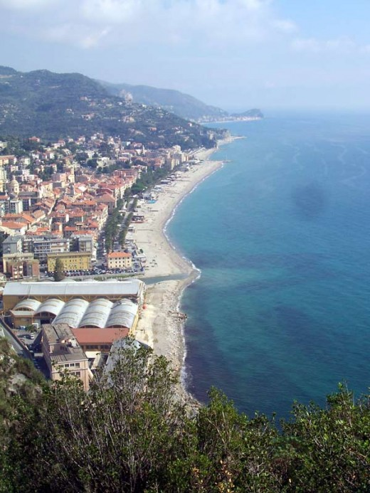 The Italian Riviera at Finale Marina