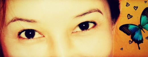 No tears. Happy eyes.
