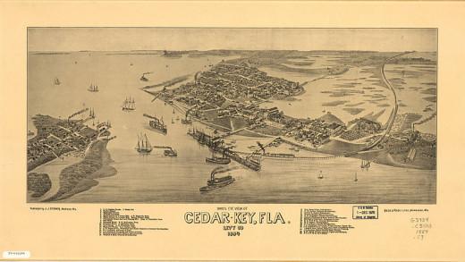 Cedar Key, Florida, C.1884
