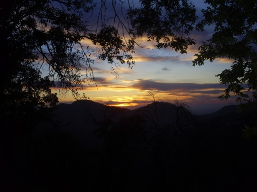 A sunset in the San Bernardino Mountains.