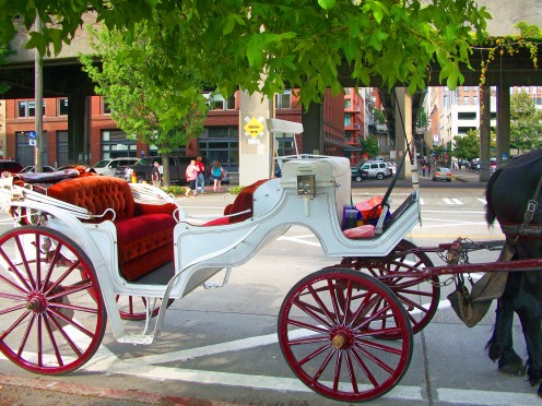 Horsedrawn Carriage at Seattle's Waterfront
