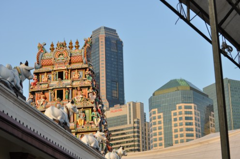 Sri Mariamman Temple located in heart of Chinatown.