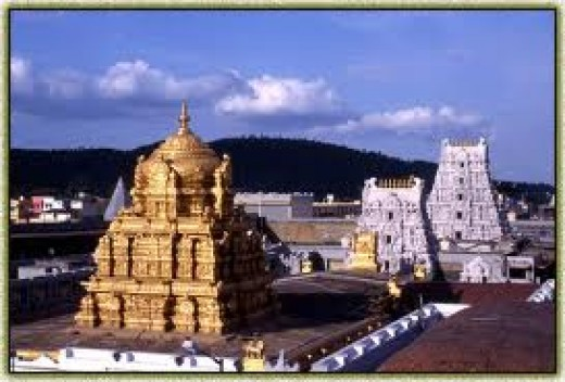 The world famous Tirupati Balaji Temple in Andhra Pradesh