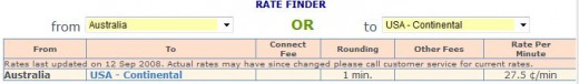 This is a screenshot of the Rate Finder from Speedy Pin website