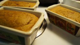 Pumpkin bread - fresh out of the oven.