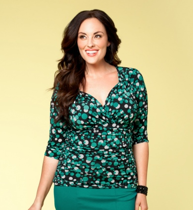 Make a statement with fun and upbeat prints! Our Peri Print top not only boasts an amazing silhouette, but it keeps your look young and fresh with bright pops of color.  Price:  $62.00