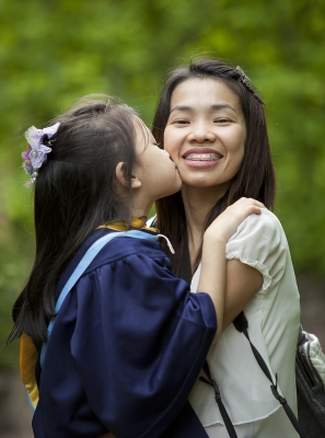 ESL students might be children whose parents believe that learning English will create oppotunities for their child.