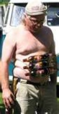 Check out my six pack! This was when I was working out all the time.