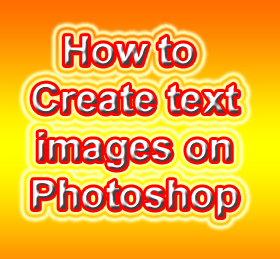 Text image created using Adobe Photoshop
