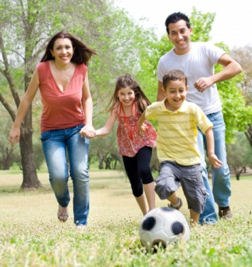 When you exercise with the family, you set a good example for your children.