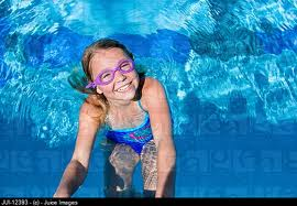 IT'S ALWAYS A GOOD IDEA TO WEAR GOGGLES IN A POOL.