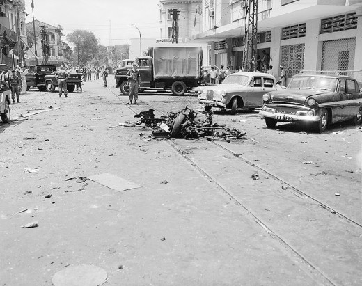 Results of VC terrorism in Saigon in 1965.