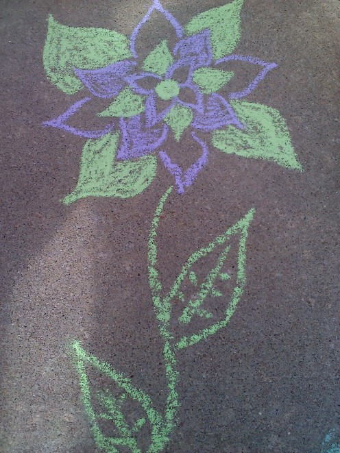 My chalk flower creation