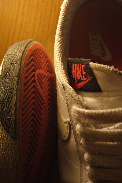 Nike's trademark cannot be used by any other company, even if they change the color.