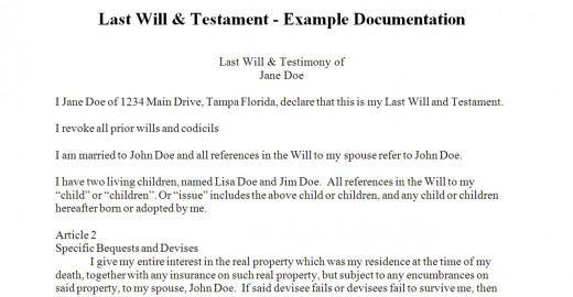 What does a will look like?