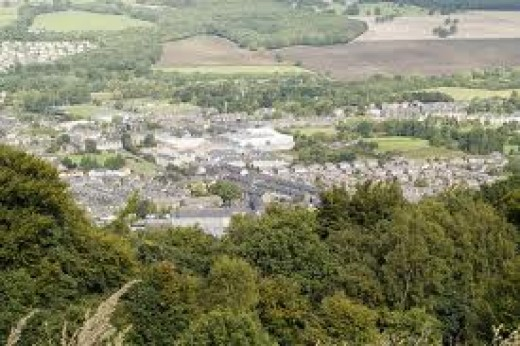 Looking down over Otley from the Forest Park