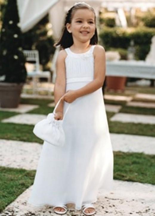 Summer flower girl dress