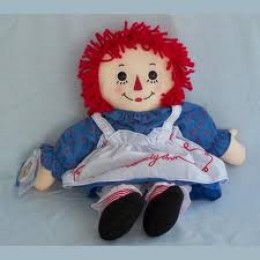 Raggedy Ann always looks glad to see you.