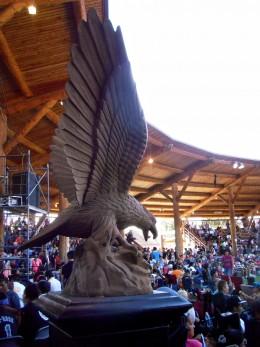 The Eagle guards a gateway.