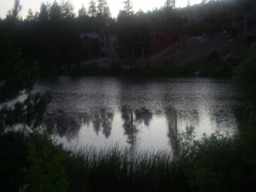 Grass Valley Lake near sunset.