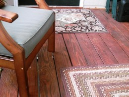 Deck after cleaning and staining