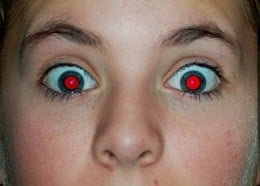 The red spots in the pupils are known as Red Eye.