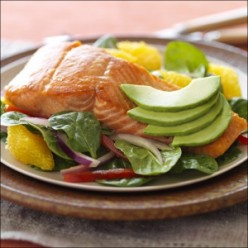 Salmon Recipes: Seared Salmon with Avocado and Cucumber Salad