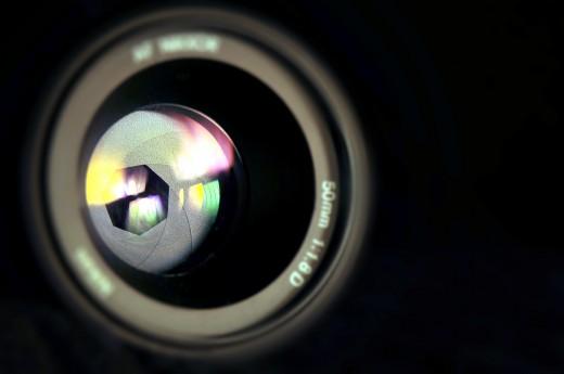 Aperture -- 50mm lens aperture